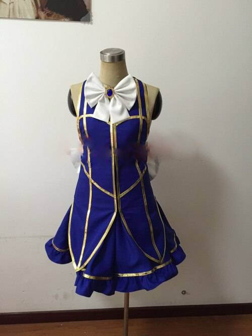 Hot Anime Fairy Tail Lucy Heartfilia Default Uniform Cosplay Costume Lolita Party Dress Any Size
