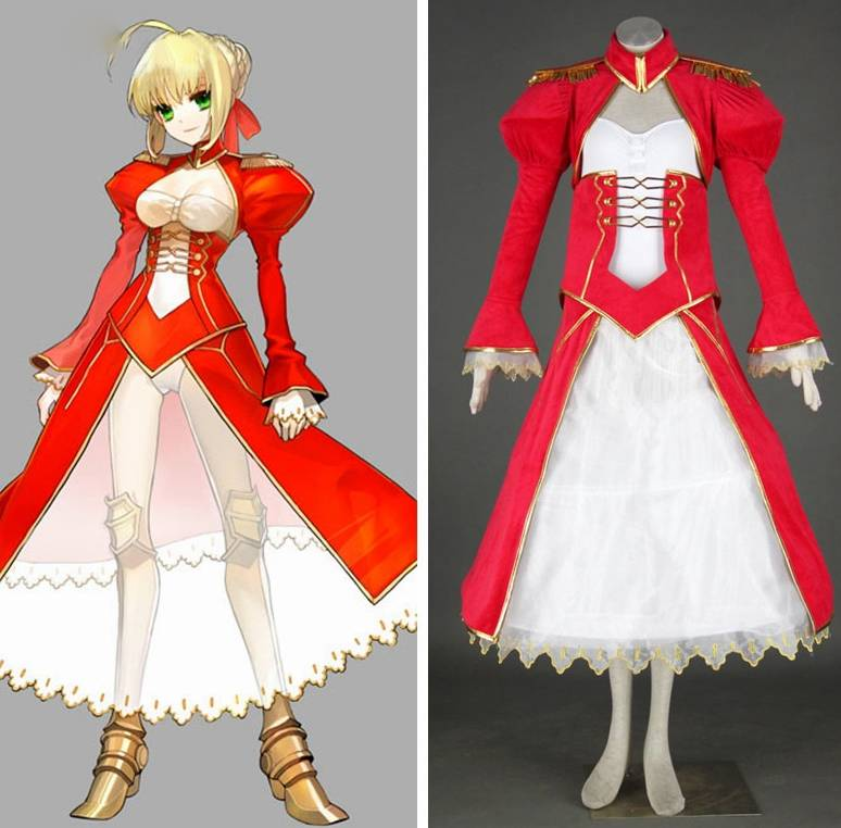 Ainclu Fate Stay Night Anime Extra Saber Nero Halloween Cosplay Adult Kid Costume Tailor-made Customize For Adults