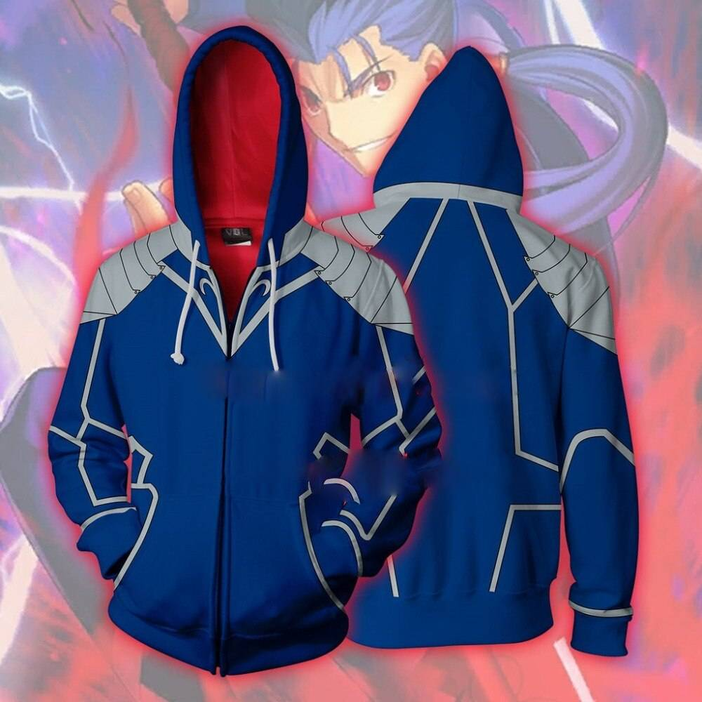 Fate Stay Night Archer Cosplay Costume Lancer 3d Printing Zipper Sweatshirts Hooded Sweater Fashion Men And Women Anime Jacket