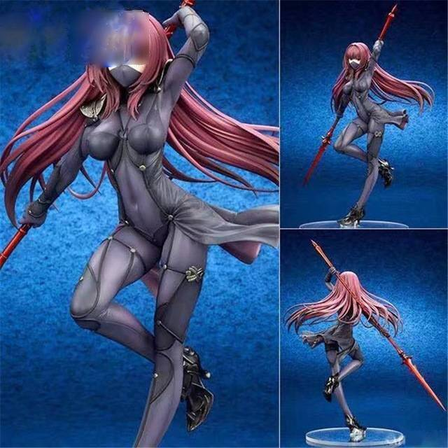 fate stay night action figures fate grand order servant scathach lancer figure toy 270mm aquamarine fate anime pvc model toy