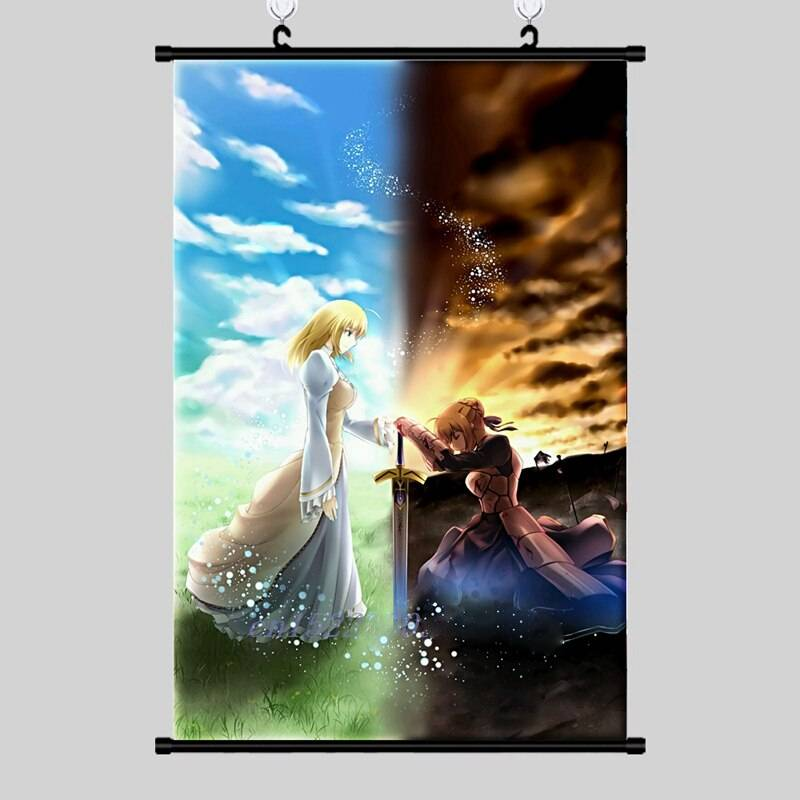 Anime Poster Fate Stay Night Wall Scroll Printed Painting Home Decor Japanese Cartoon Decoration
