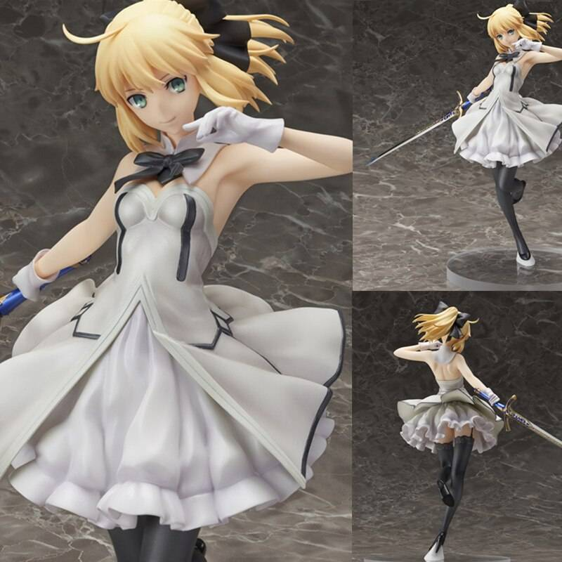 15cm Anime Cartoon Fate Stay Night Saber Lily Action Figure Pvc Sexy Girls Toys Dolls Collection Model Collectible