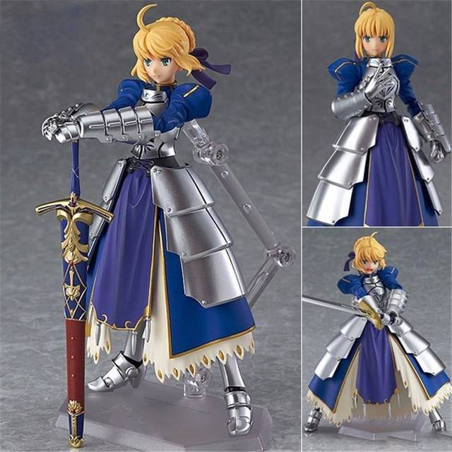 a toy a dream anime fate stay night figma227 ubw zero saber knight girl arthur pvc action figure collection toys doll 15cm