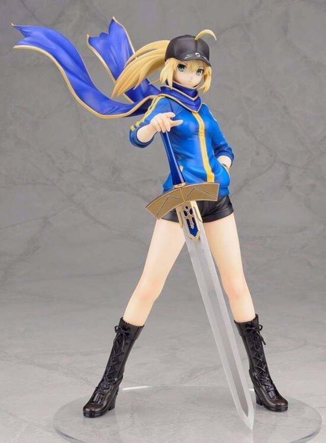 anime fate zero figure 23cm fate stay night saber baseball jackets action figure sexy girl figure toy alter saber lily 1pc toys