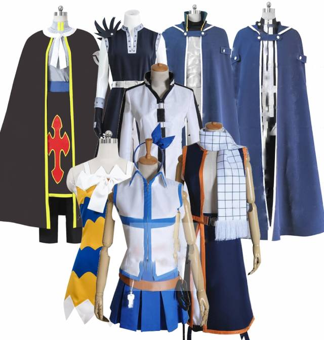 fairy tail lucy heartfilia jellal fern andes natsu dragneel group of characters clothes cosplay costume customized accepted