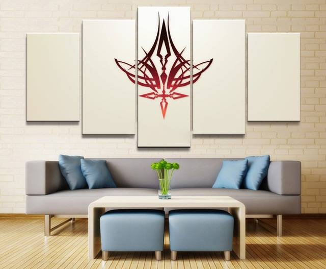 Fate Stay Night Anime 5 Piece Hd Print Home Painting Wall Art Canvas For Living Modern Decorative Artwork