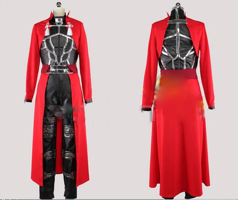 Fate Stay Night Archer Cosplay Costume Red Coat Full Set