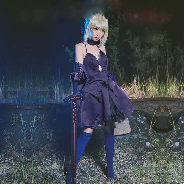 fate zero stay night saber costumes fate hollow ataraxia alter saber iii cosplay dress women fancy party uniform for halloween