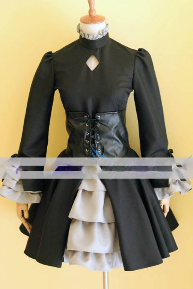 Custom Dark Saber Cosplay Costume Hollow Ataraxia From Fate Stay Night Anime Clothing Christmas