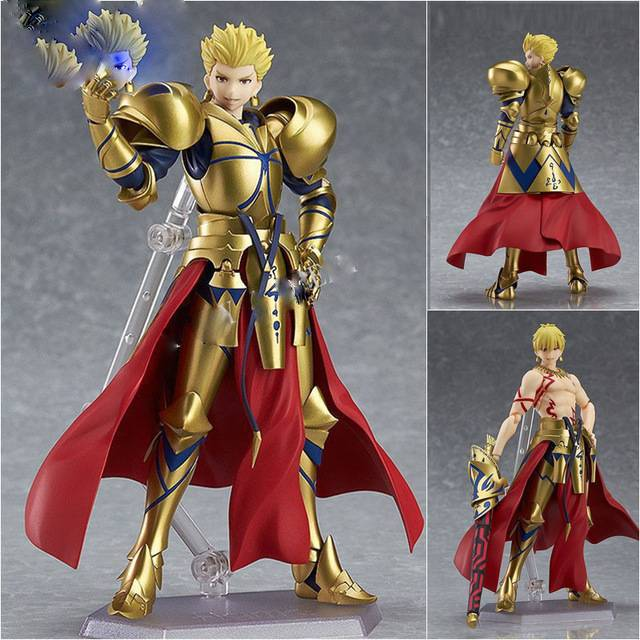 Anime Fate Stay Night Grand Order Archer Gilgamesh Figma 300 Pvc Action Figure Collection Model Kids Toys Doll 16cm