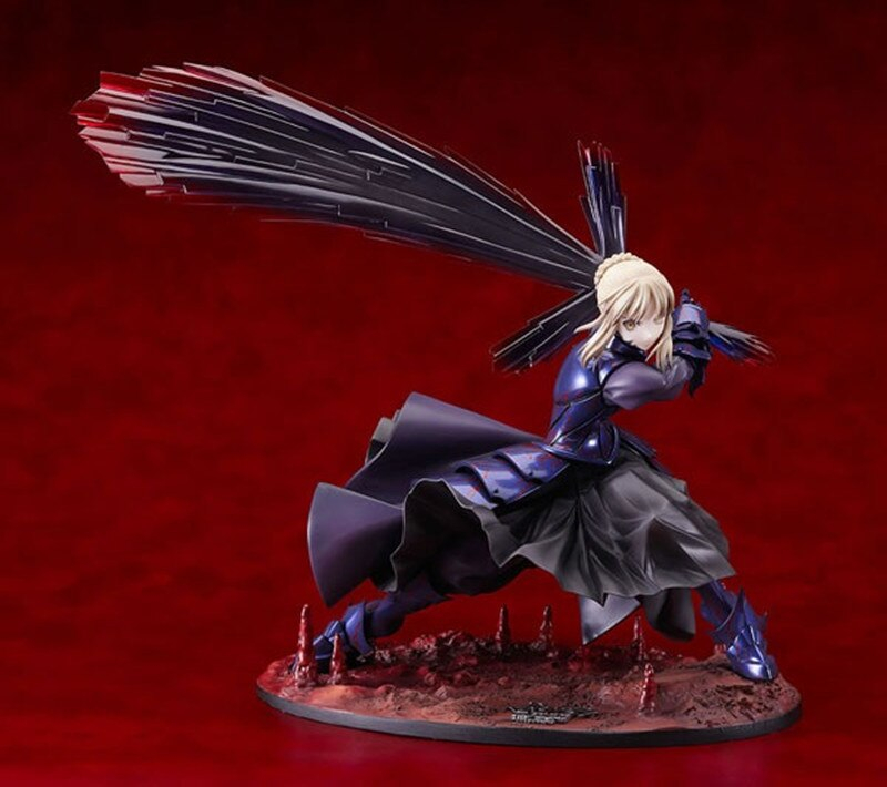 Japan Anime Figure 18cm 7'' Fate Stay Night Black Saber Alter Boxed Pvc Action Toys Model Gift Kc0100