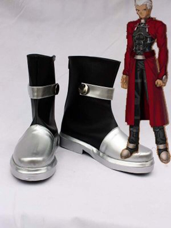 Fate Stay Night Cosplay Archer Short Boots Shoes Anime Party Custom Made Men