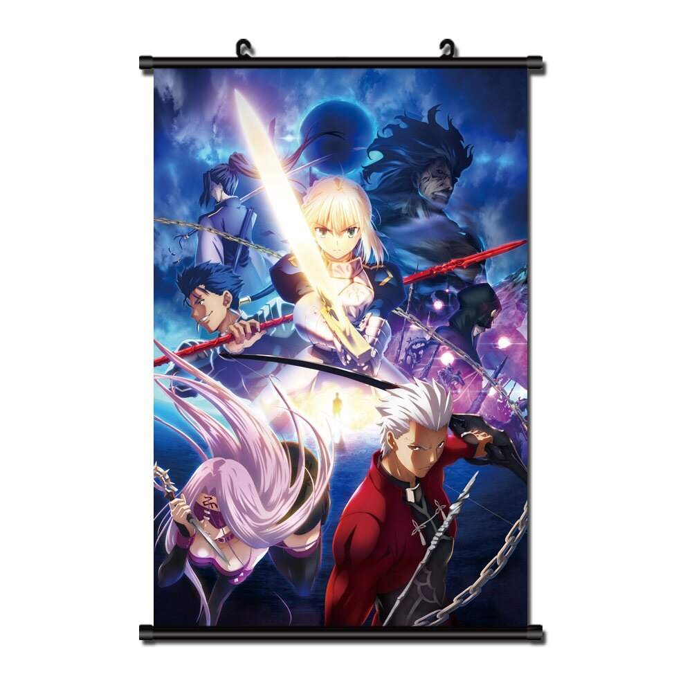Japanese Anime Fate Stay Night Home Decor Wall Scroll Poster S Cartoon Canvas Painting Posters