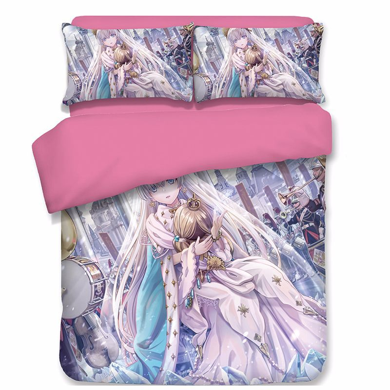 Fate Stay Night 3d Cartoon Anime Bedding Set Arturia And Altria Double Queen King Comforter Sets Bed Linen Saber