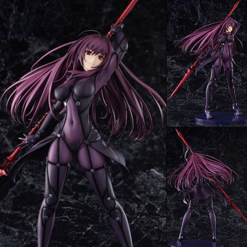 Fate Stay Night Action Figures Grand Order Lancer Scathach Figure Toy 270mm Aquamarine Anime Model