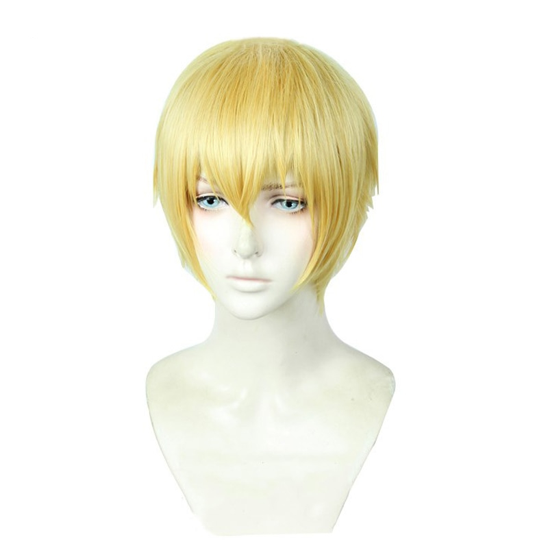 Gilgamesh Golden Wig Cosplay Fate Extra Ccc Zero Stay Night Hair Synthetic Short For Adult