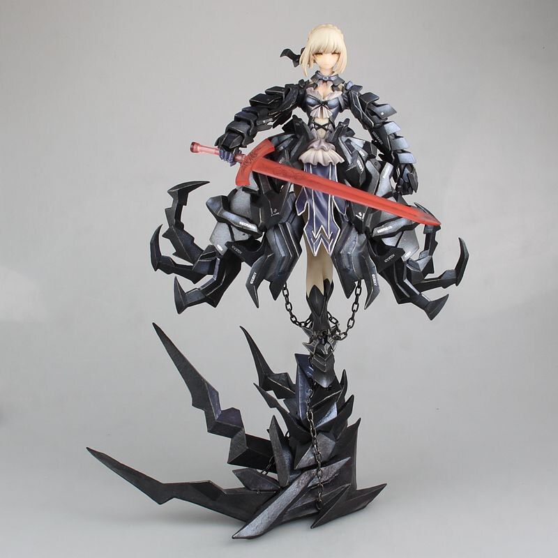 Anime Fate Stay Night Gsc Saber Alter Huke Metal Gear Ver Black Fighting 1 7 Scale Action Figure Toy