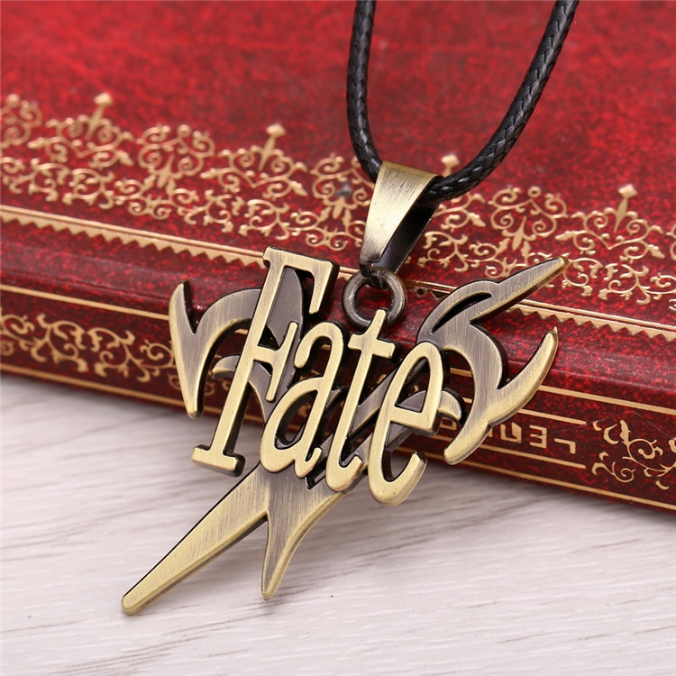 J Store Anime Fate Stay Night Stand Shape Metal Pendant Necklaces Locket Choker Necklace Cosplay Men Jewelry