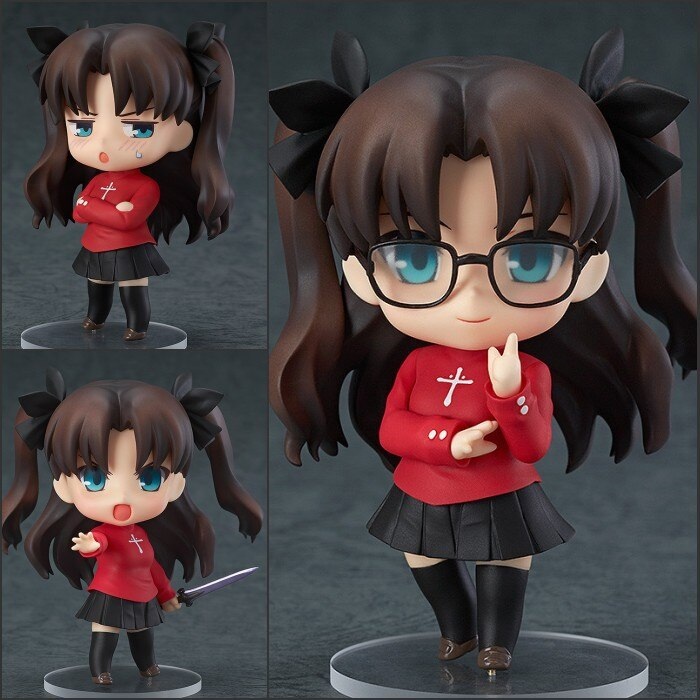 Anime Nendoroid Fate Stay Night Tohsaka Rin 409 10cm Movable Pvc Action Figure Collection Model Toys Christmas Gift