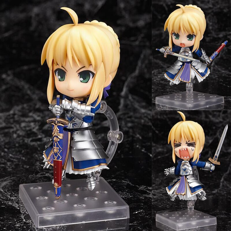 Fate Stay Night 121 Cartoon Model Figure Saber Zero Movable Nendoroid Collection Anime Decoration Toy Gifts Boxed T7448