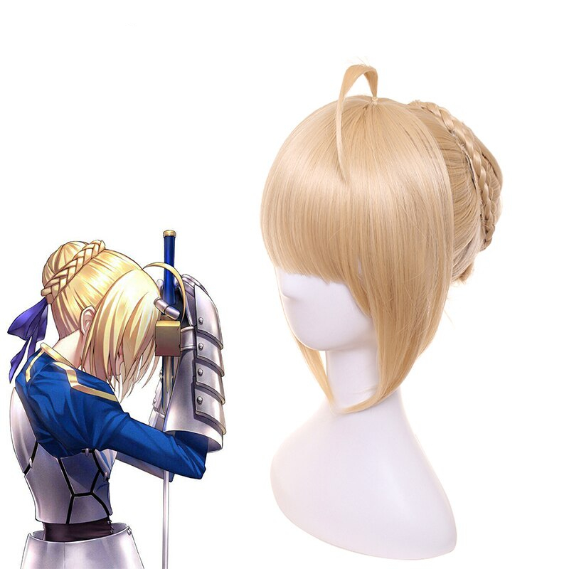 Fate Stay Night Cosplay Wig Wigs For Women Synthetic Hair Perucas Anime