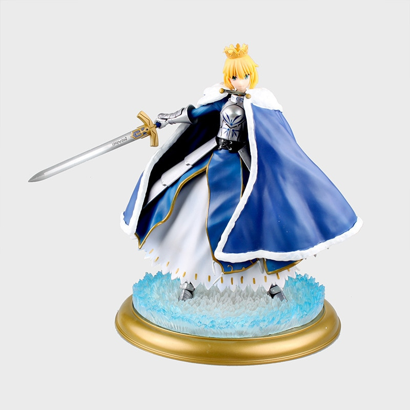 Huong Anime Figure 26 Cm Fate Stay Night Saber Zero With Light Pvc Action Collection Model Toy