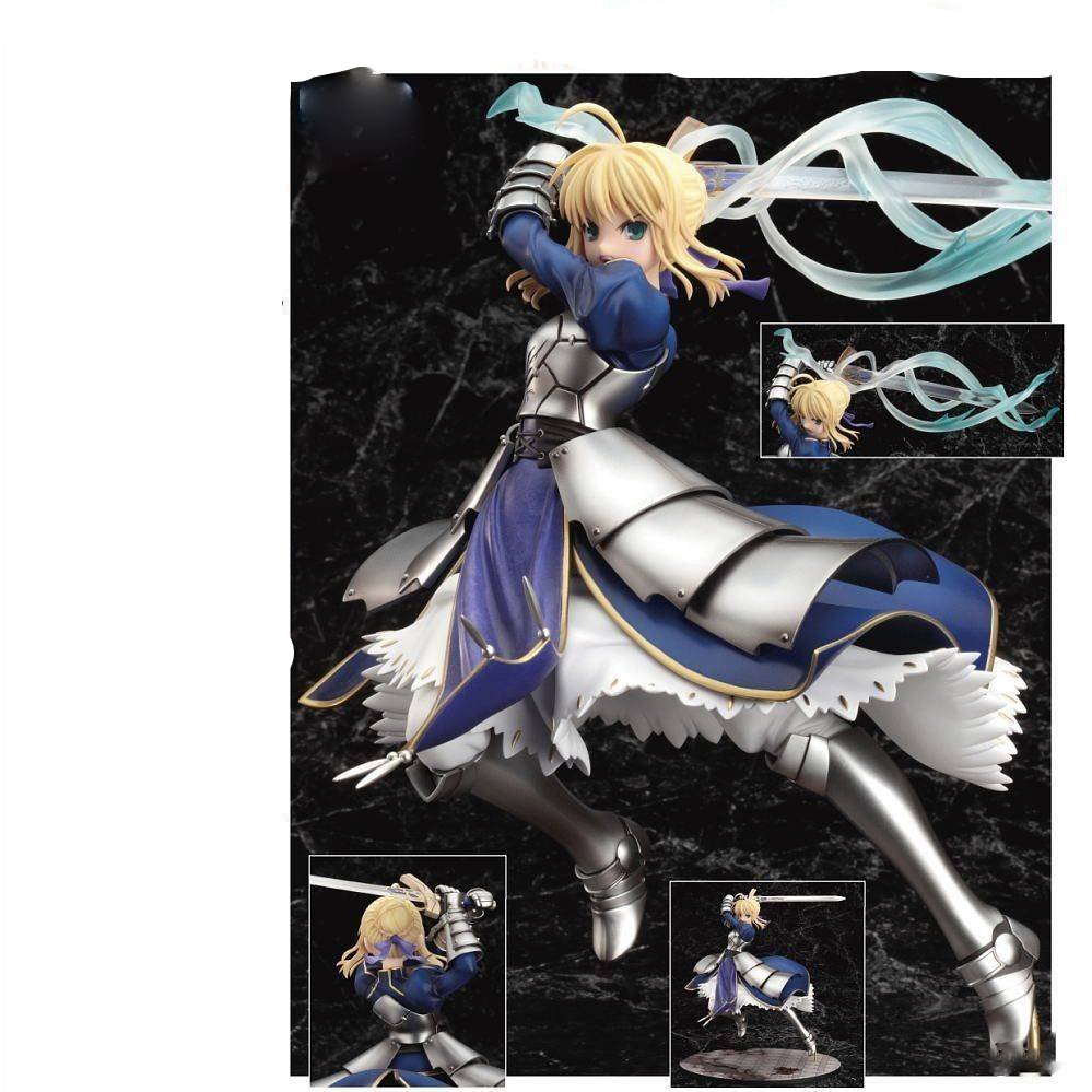 25cm Anime Fate Stay Night Saber Lily Doll The Sword Of Victory Action Figures Collectible Model Toy Gsc Brinquedos