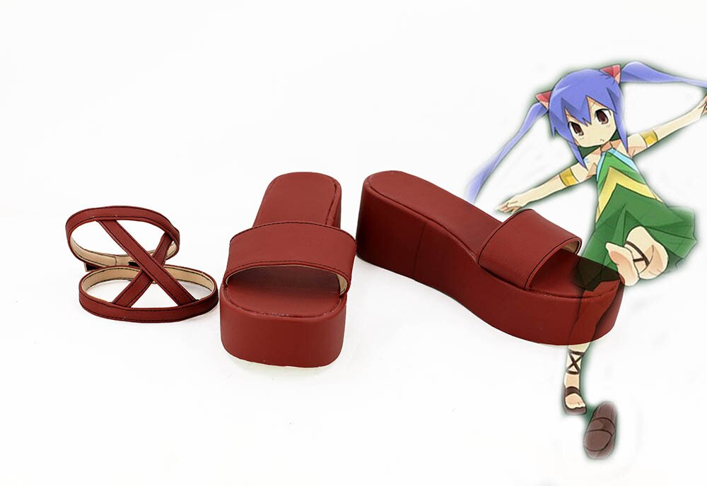 Fairy Tail Wendy Marvell Cosplay Shoes Red Custom Made