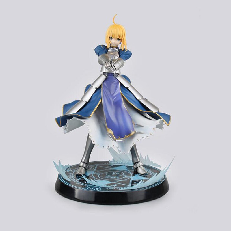 Unlimited Blade Works Saber Fate Stay Night Anime Figure Model Action 26cm Collection Toys Christmas Gift