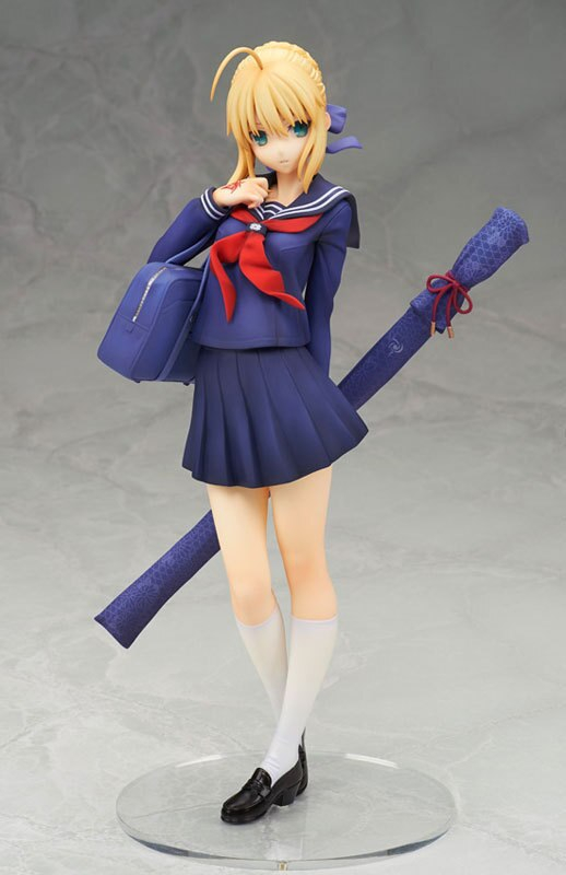 Alter Fate Stay Night Anime School Uniform Ver Saber 18cm Pvc Action Figure Collectible Model Doll Toy