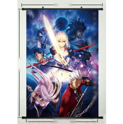 Anime Poster Fate Stay Night Art Wall Scroll Fabric Home Decoration Japanese Cartoon Decorative Poster60x90cm