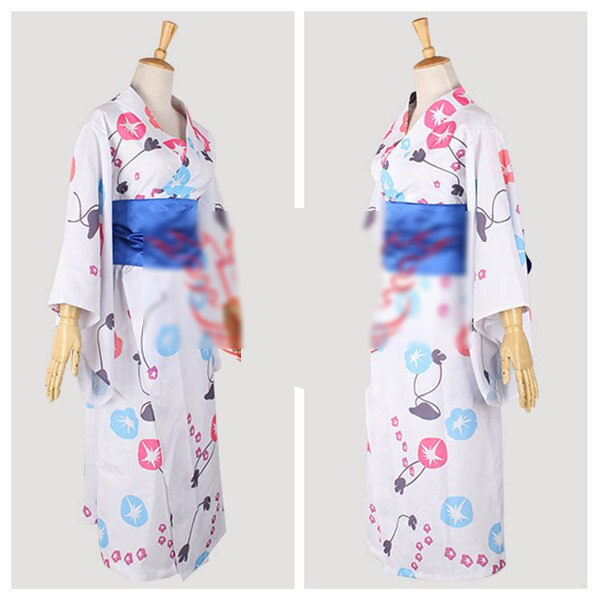 Hot Anime Cosplay Costume Fate Stay Night Altria Pendragon Printing Kimono Lovely Style A