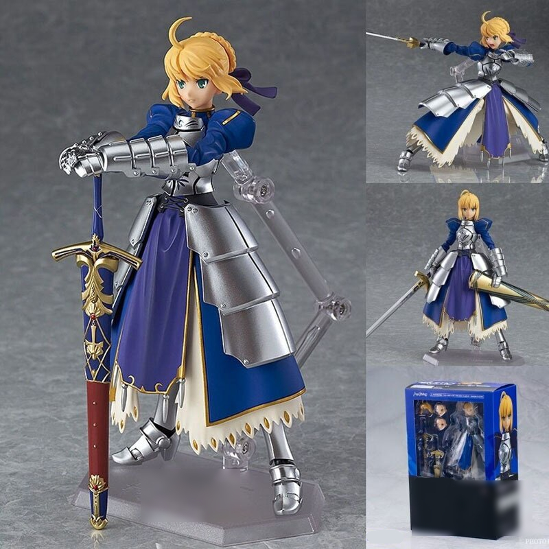 Pvc 227 Armor Saber Action Figure Fate Stay Night Good Anime Model Toy Joints Movable Replaceable Gift Collections