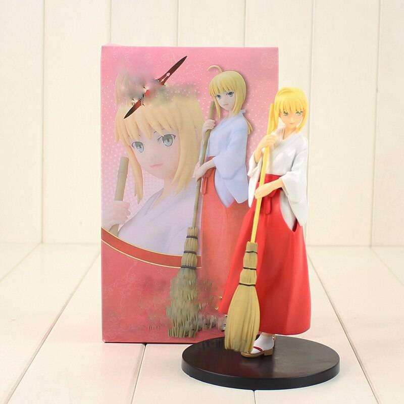 21cm Fate Stay Night Saber Figure Toy Hollow Ataraxia Saber Beauty Model Doll Anime Brinquedos