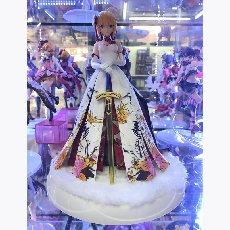 Anime Fate Stay Night Arturia Pendragon Saber Formal Dress Version Pvc Action Figure Collection Model Doll G2473